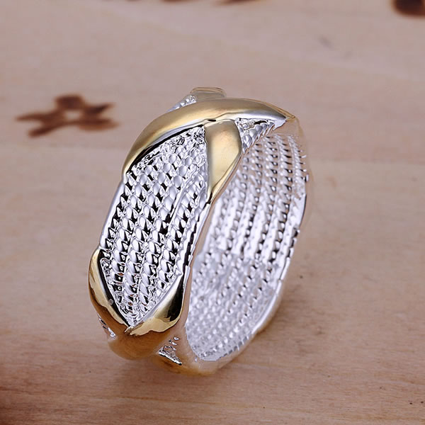 R013 925 silver ring, fashion jewelry, X Ring - fengqin gong's store