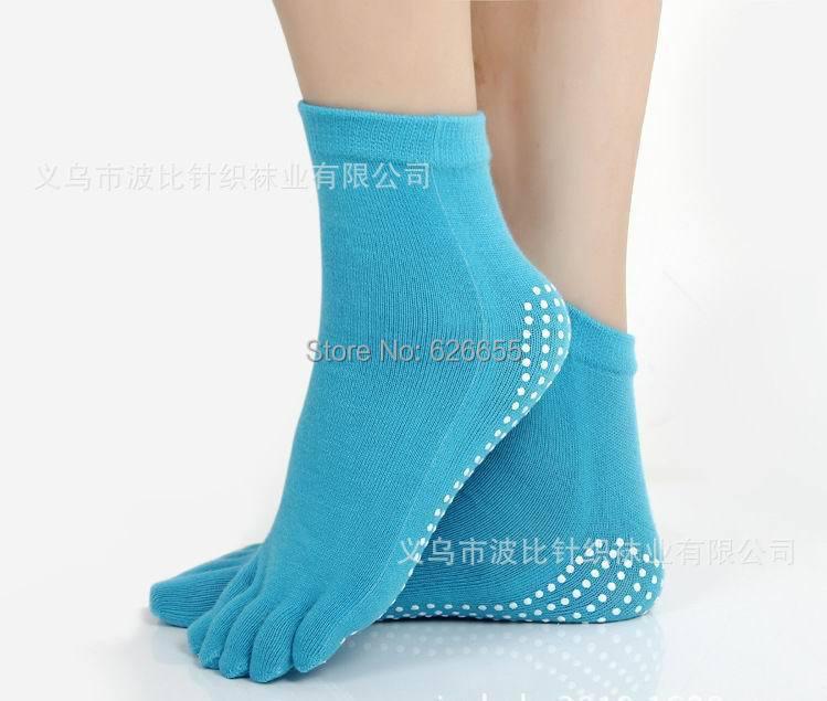 2015 New Women Professional Yoga Socks Anti Slip Rubber Dots Sports Exercise Latex Pilates - Judy Wen's store