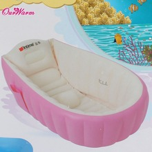 Baby Inflatable Tub Kids Infant Newborn Portable Dual Purpose Air-filled Bathtub PVC Swimming Pool Bath Basin for 0-3 year old(China (Mainland))