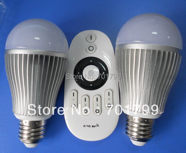 6W color temperature and brightness adjustable led bulbs(two bulbs and one remote),can be controlled by our own wifi controller