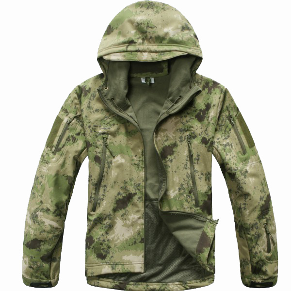 V4.0 Military Soft Shell Hunting Jacket Outdoor Army Tactical Combat Waterproof Windproof Sport Jackets Coat Camouflage Clothing - RAINBOW OUTDOOR store