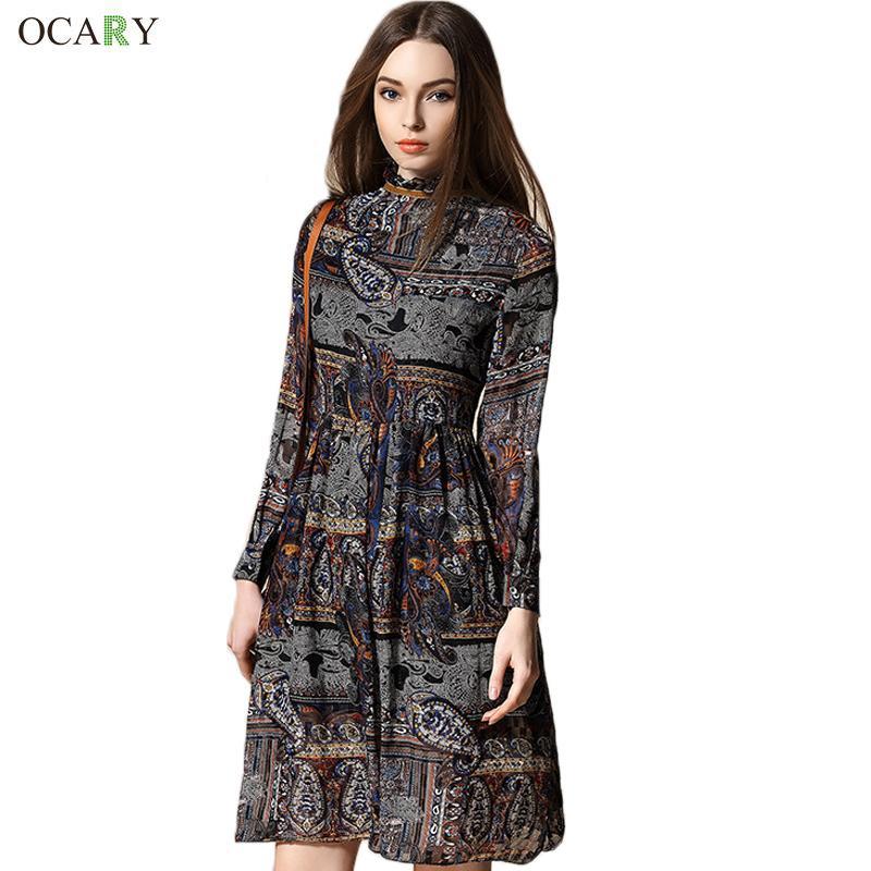 luxury 2016 fashion summer dress vintage