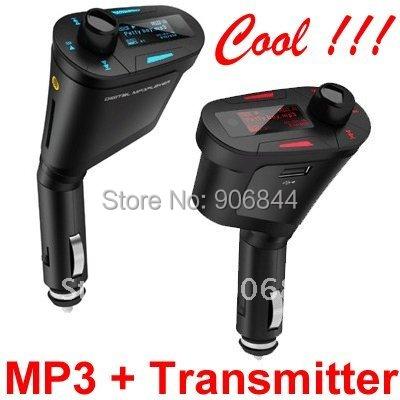 Low Price Wholesales 2012 New Hot Car MP3 Player Wireless FM Transmitter USB SD MMC Slot 10PCS/lot