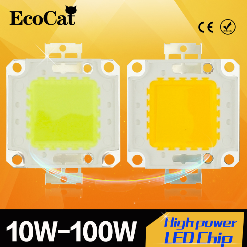 High Power Epistar COB LED Chip 10W 20W 30W 50W 100W DC 24V-38V Integrated SMD For Floodlight Spotlight Warm White /White(China (Mainland))