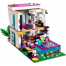 Bela 10498 Friends Series Livi's Pop Star House 619Pcs Building Blocks Sets Livi Andrea Figures Toys Compatible With 41135(China (Mainland))