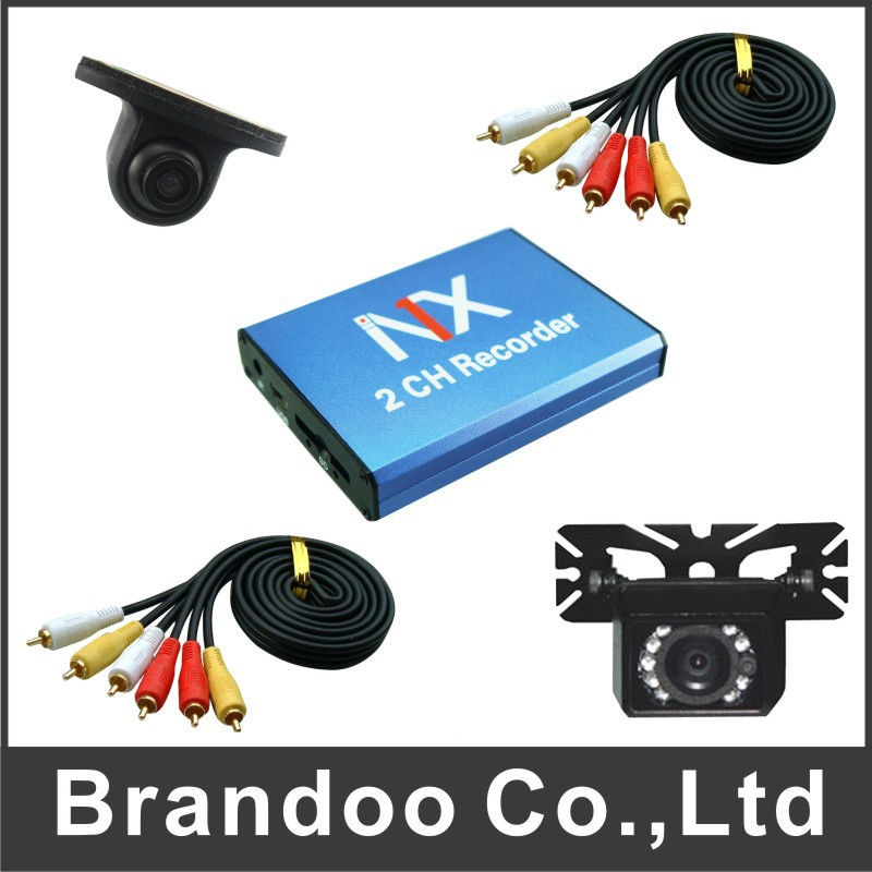 HOT SALE USA market 2 channel TAXI DVR kit, including 2 car cameras, 5 meters video cable, support 128GB sd card, auto recordin(China (Mainland))