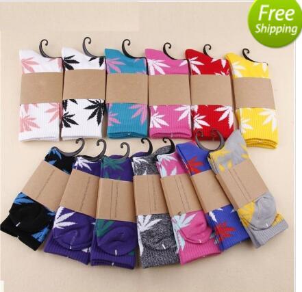 Free shipping Maple Leaf leaf socks fashion socks plantlife crew weed socks skateboard sports stockings 2000pcs=1000pairsОдежда и ак�е��уары<br><br><br>Aliexpress