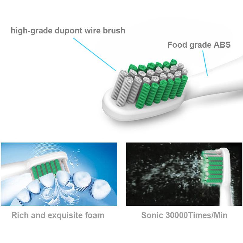 sn901 ультразвуковая электрическая зубная щетка перезаряжаемые Уход за полостью рта массаж щетки зубов для взрослых детей дети 4 зубная щетка голову 220v