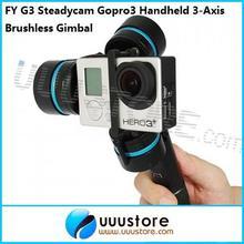 FPV Feiyu Tech FY G3 Steadycam Gopro3 Handheld 3-Axis Brushless Gimbal for FPV Gopro 3 Free shiping