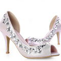 Gold Rhinestone Shoes wedding shoes for Bridal Shoes Bridesmaid Dress Sandals Peep Toe Party Evening Shoes