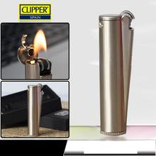 Spain Clipper oil Lighters,Creative metal kerosene lighter flint grinding wheel Gift Box