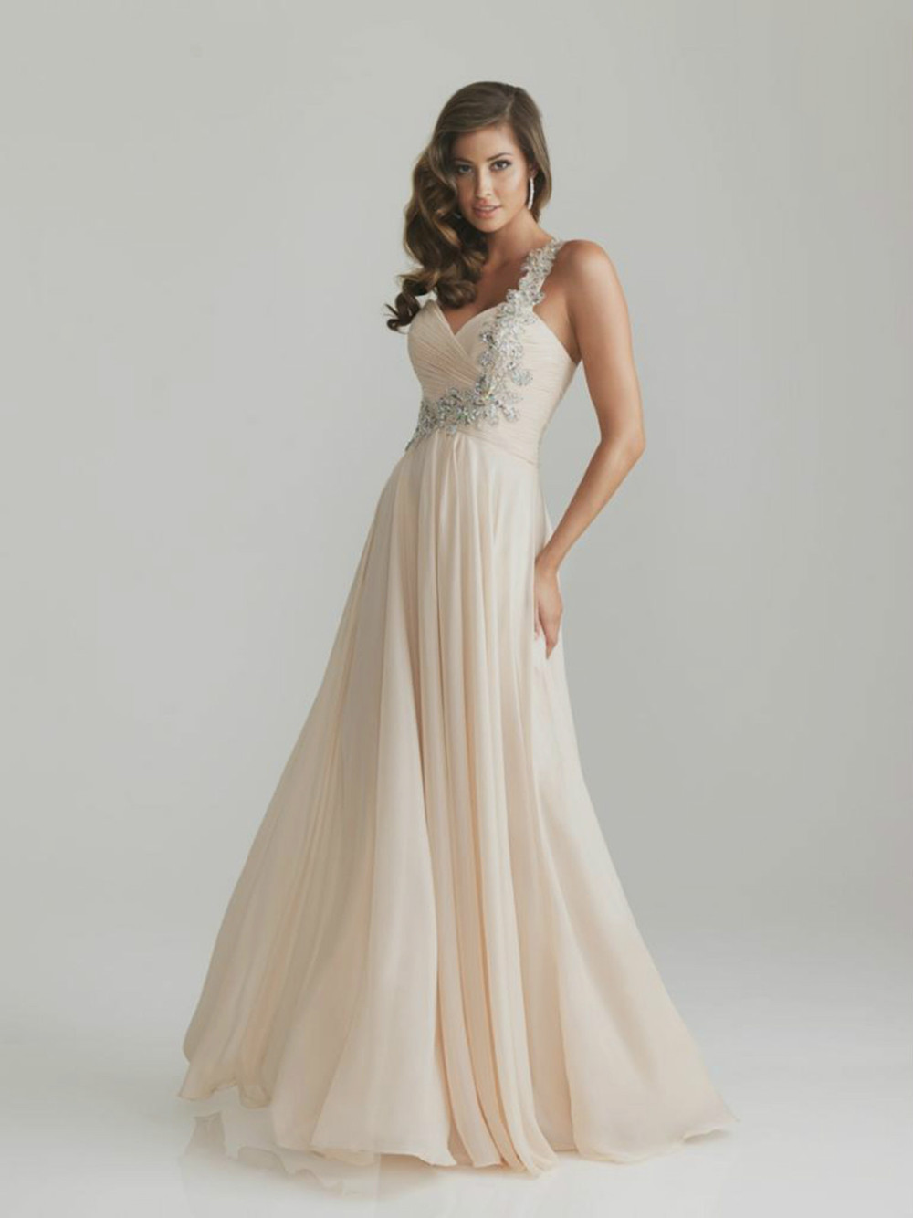2013 Long One-Shoulder Chiffon Bridesmaid Dresses - Beautiful wedding clothes store