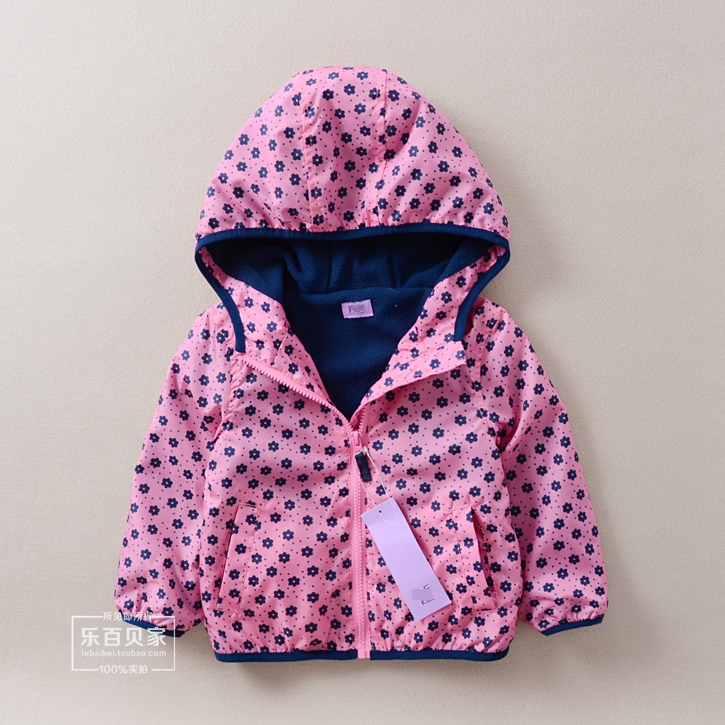 2015 Spring Autumn casaco infantil Kids clothes baby Girls pink floral hooded jackets children Casual cardigan coat jaquetas - Sunny Baby fashion Store store