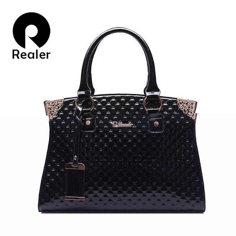designer luxury diamond lattice handbags ladies patent leather bolsa