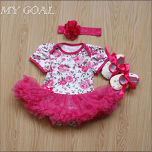 2015 Hot Sale Fashion Christmas Infant Girl Rompers Dress Baby Girls Clothes Sets 3pcs Newborn Cotton Jumpsuit Clothes(China (Mainland))