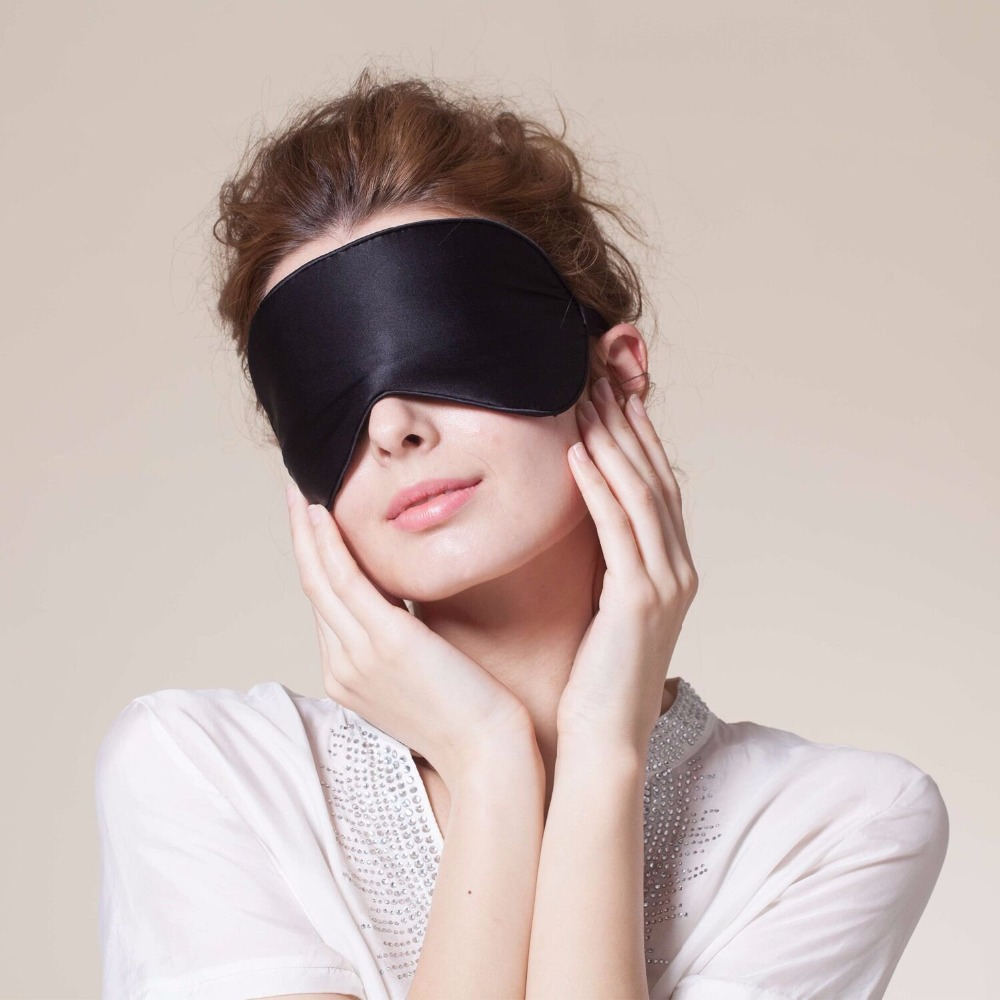 Hopeforth Natural Silk Sleep Mask Blindfold Super Smooth Eye Mask Eyeshade