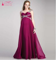New Beading Chiffon fucsia Evening Dresses For Pregnant Women Sweetheart Maternity Evening Gowns A Line Plus