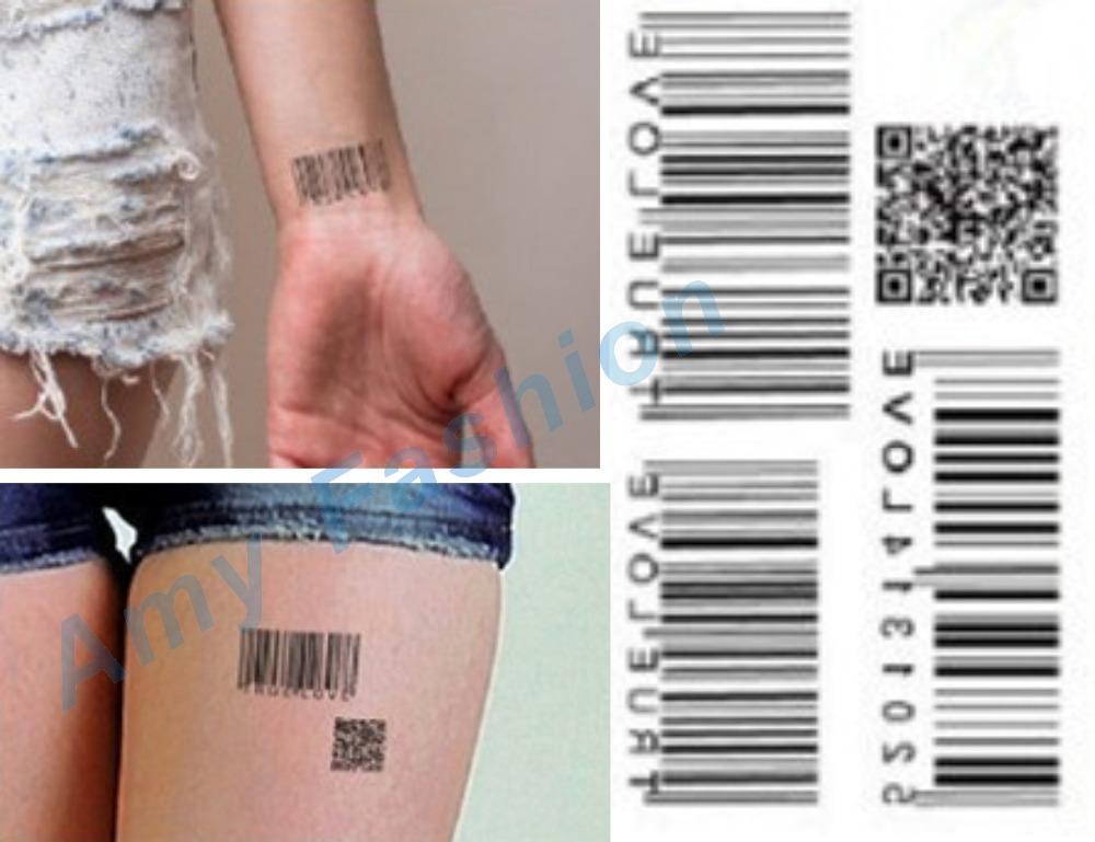 Tattoo men women waterproof paper stickers Wrist Two-dimensional code Pattern make up fresh Body temporary tattoos New Design(China (Mainland))