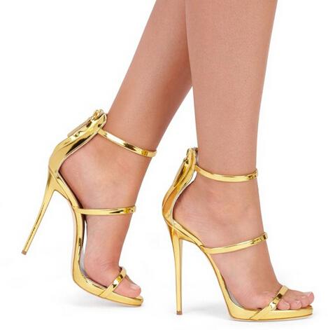 High Quality Metallic High Heels Gold-Buy Cheap Metallic High ...