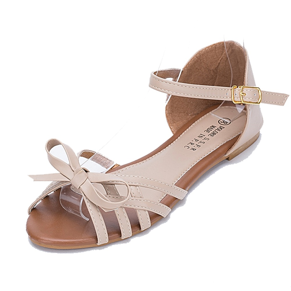 quanxiu 2015 causal shoes summer flat metal plus size women flat sandals in women 39 s sandals from. Black Bedroom Furniture Sets. Home Design Ideas