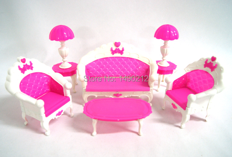 2015 NEW Doll furniture christmas gift Living Room Set accessories for barbies doll Free shipping(China (Mainland))