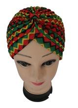 Free Shipping 2016 New Women Fashion Green Red Yellow Chervon Plaid  Turban Hats Caps(China (Mainland))