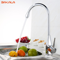 BAKALA New kitchen tap Chromed single lever single hole swivel kitchen faucet mixer BR 9113