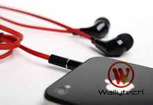 Wallytech 100 x For iPhone 5 Flat Cable Earphone With Microphone  For HTC Earphones   (WHF-111)(China (Mainland))