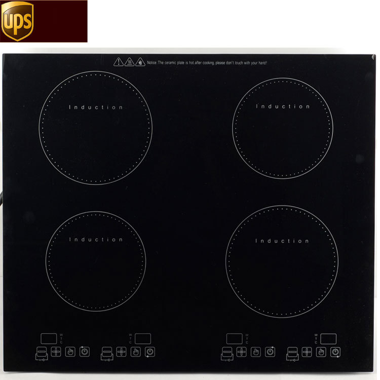 best 220v four burners induction cooker electric cooktop cheap restaurant equipment as seen on. Black Bedroom Furniture Sets. Home Design Ideas