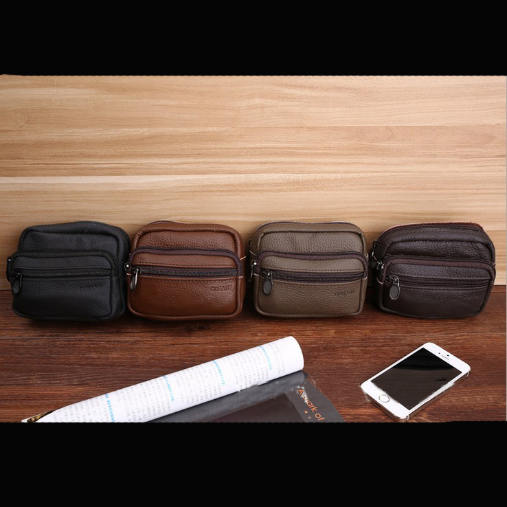 !New Hot-selling Genuine Leather 4 colors Waist Packs Outdoor Fashion Bags C3413 - Fiona's Wallet and Bag Store store