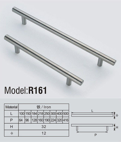 Solid t bar household furniture handle cc:96mm length: 153mm(China (Mainland))