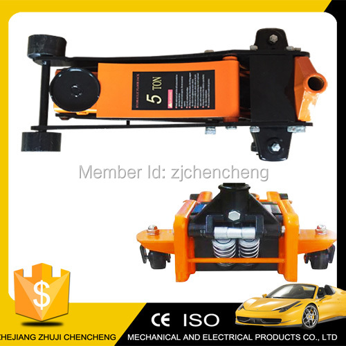 low profile with double pump floor jack 5 ton and 3.5 ton car lift small car jack(China (Mainland))