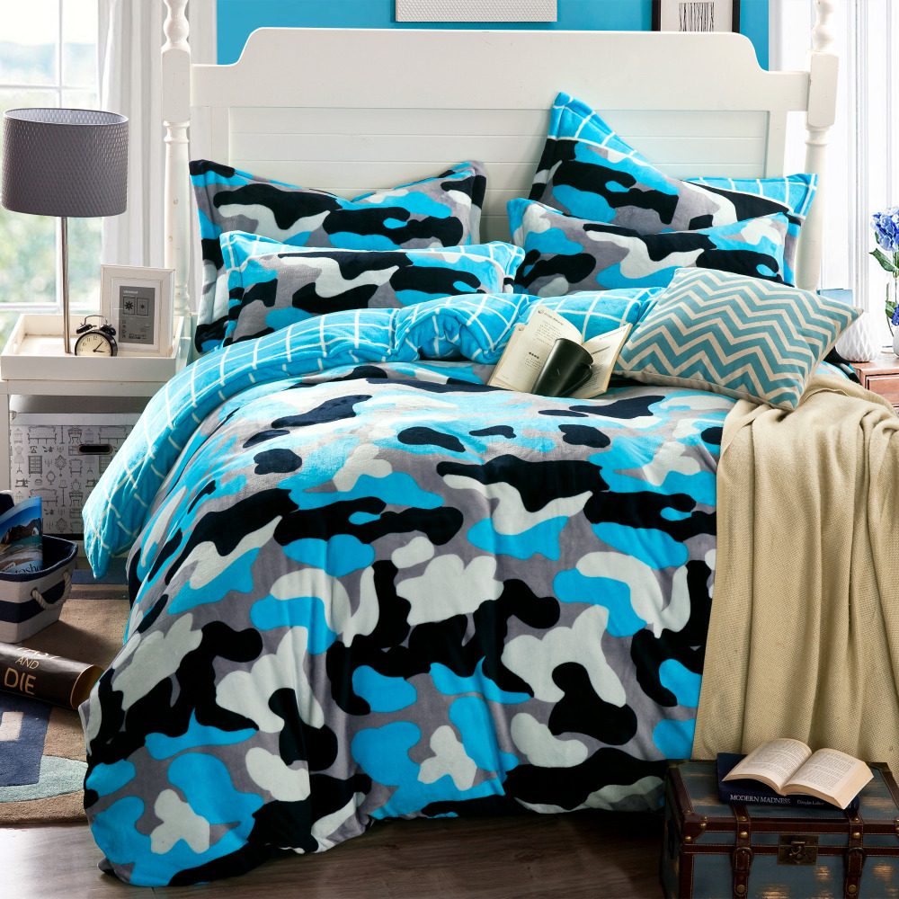 camouflage duvet cover blue bed sheets funda nordica housse de couette nautical bedding cheap. Black Bedroom Furniture Sets. Home Design Ideas