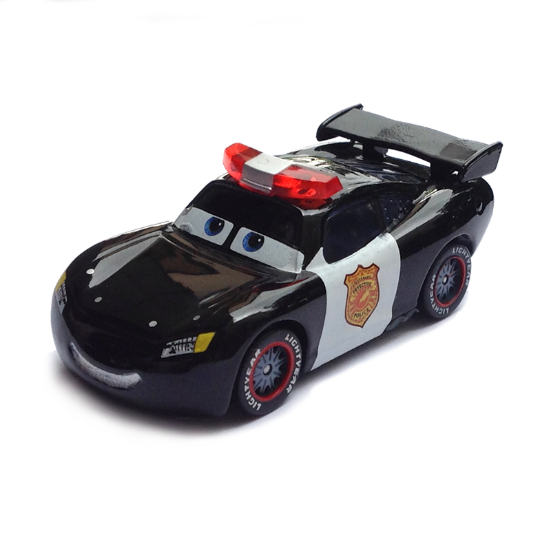 Pixar Cars Police Lightning McQueen Diecast Metal Cute Cartoon Movie Toy Car For Children Gift 1:55 Loose Brand New In Stock(China (Mainland))