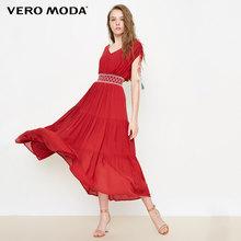 Vero Moda boho סגנון V-צוואר מקסי/ארוך קיץ חוף שמלת 2019 | 31827A575(China)