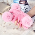 Soft Plush Rabbit Fur Case For iPhone 7 Cover Fluffy Balls Phone Cases For Apple iPhone