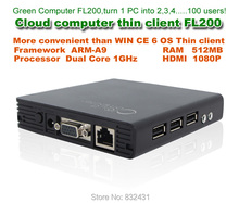 FL200 Cloud terminal Computer RDP with HDMI Embedded Linux Thin client OS Dual Core 1Ghz ARM-A9 512MB RAM flash RDP 7.0