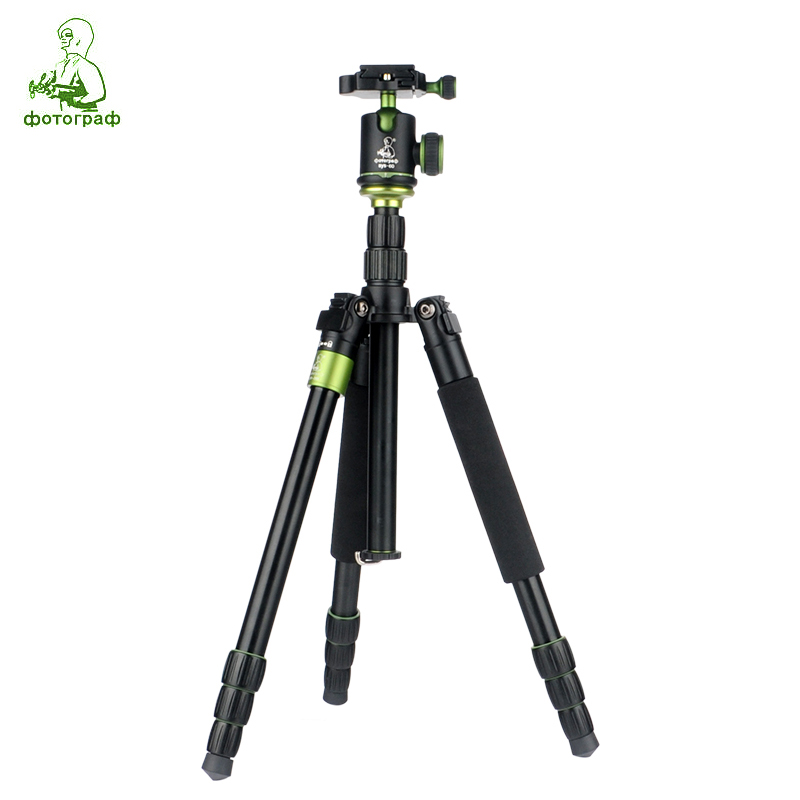Фотография SYS-288 Professional Portable SYS288 Aluminum Tripod Monopod Model+Ball Head For Canon Eos Nikon Sony DSLR Camera Free Ship