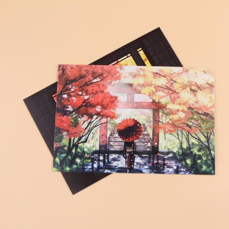 """Гаджет  """" Creative 2PCS Red Leaf Autumn Pattern Postcard Cards Office Supplies Drop Shipping Xmas-0037"""" None Офисные и Школьные принадлежности"""