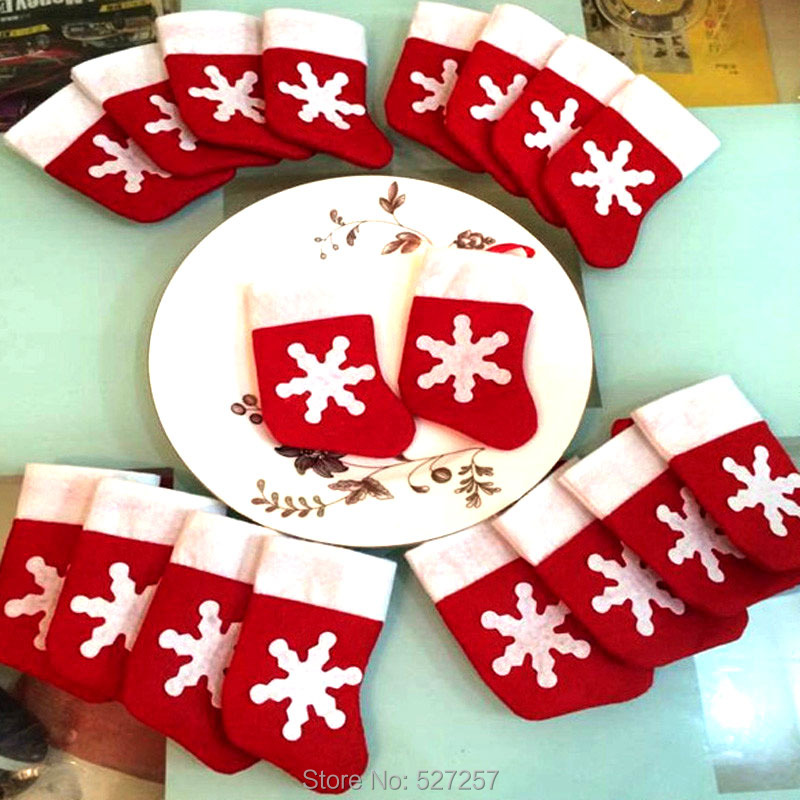 12 pieces set mini christmas stockings christmas for Christmas decoration suppliers