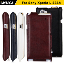 Buy Case Sony Xperia L Luxury Vertical Flip Leather Case Cover Sony Xperia L S36H C2105 C2104 iMUCA Mobile Phone Cases for $5.79 in AliExpress store