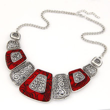 Collier Femme 2016 Fashion Statement Necklaces & Pendants Vintage Gold Geometric Choker Necklace for Women Maxi Collares Jewlery(China (Mainland))