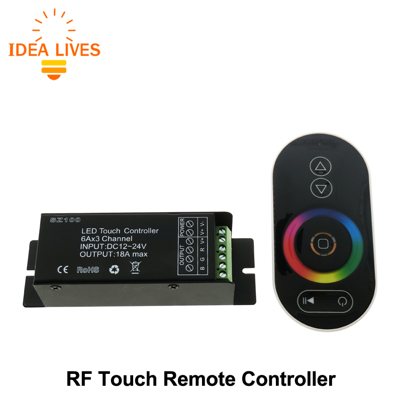 Touch LED RGB Controller RF Wireless Remote Control RGB / CT / DIM DC12-24V for LED Strip(China (Mainland))