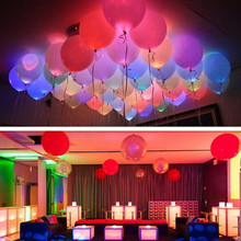 Buy 15pcs/lot 12 Inch LED Balloons Latex Multicolor Lights Helium Balloons Christmas Hollween Decor Wedding Birthday Party Supplies for $3.74 in AliExpress store