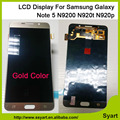Gold Color New Mobile Phone LCD Display Digitizer LCD Touch Screen For Samsung Note 5 N920R4