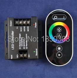 10pcs/lot DC12V-24V 3 Channels 18A 216W/432W RF LED RGB Controller With Full Color RF Touch Remote(China (Mainland))