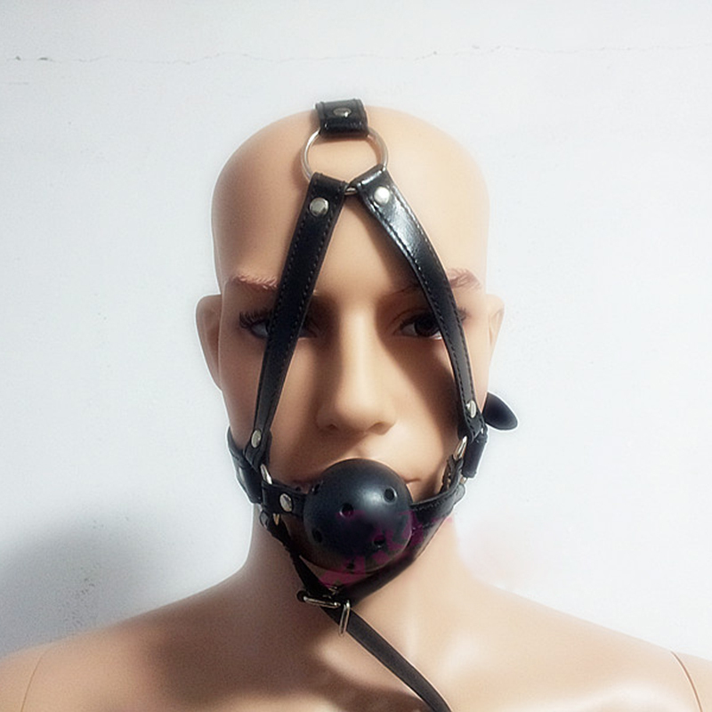 High Quality PU Leather Band Ball Open Mouth Gag Oral Fixation mouth stuffed Sex Product Toys For Couples Flirting Adult Games(China (Mainland))