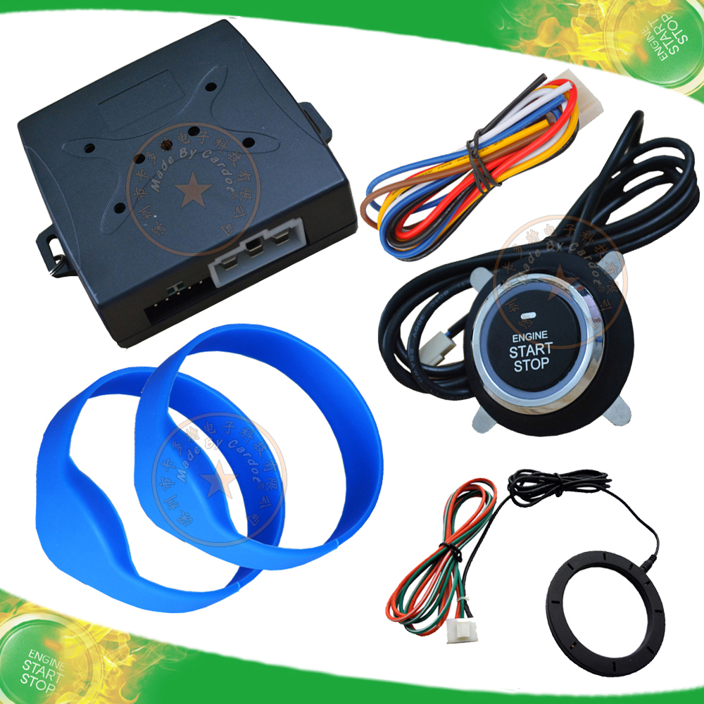 Push Button start system working with RFID invisible alarm remote start stop by oem remote key or alarm remote(China (Mainland))