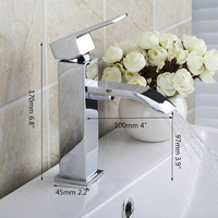Ouboni Basin Faucets Torneira Bacia Bathroom Waterfall Deck Mounted Single Hole 8352/1 Single Handle Sink Faucets,Mixers &Taps