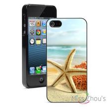 Starfish on Sandy Beach Protector back skins mobile cellphone cases for iphone 4/4s 5/5s 5c SE 6/6s plus ipod touch 4/5/6